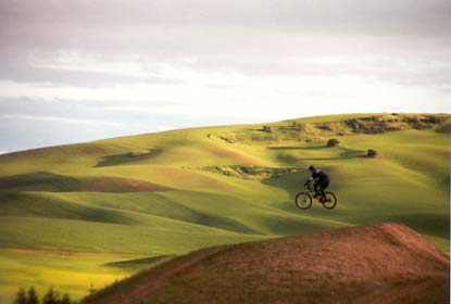 biking in the Palouse